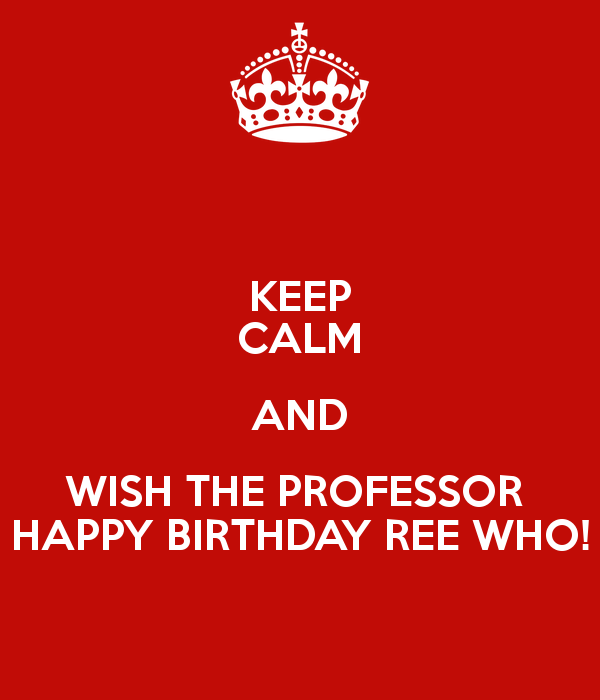 Birthday Wishes For Professor
