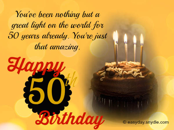 Birthday Wishes For Fifty Year Old