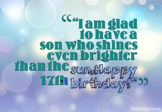 Birthday Wishes For Seventeen Year Old