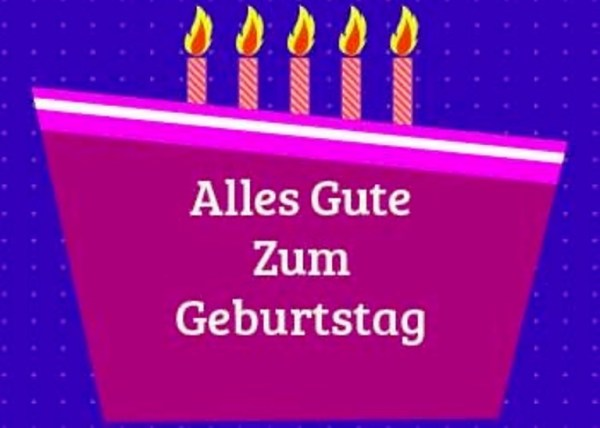 Birthday Wishes In German Page 14 - MVlC