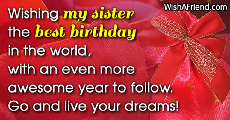 Birthday Wishes For Sister Page 11