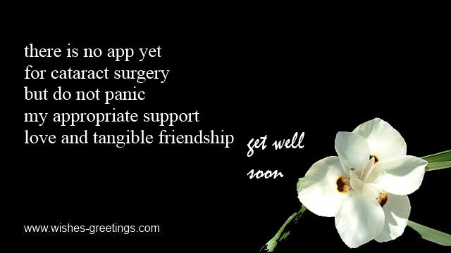 EYE SURGERY Get Well Wishes Encouraging Words Best Friend