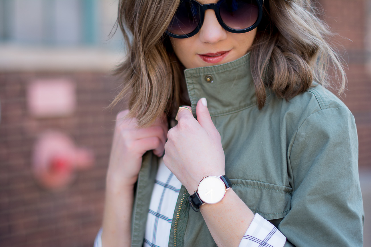 cargo jacket, round sunglasses, designer dupe round sunglasses, grid print