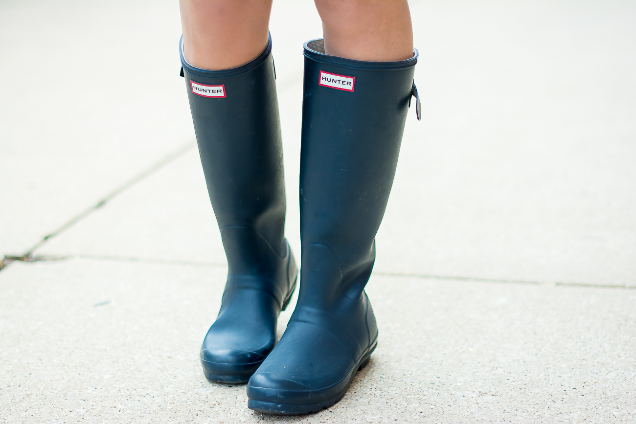 navy adjustable original hunter boots