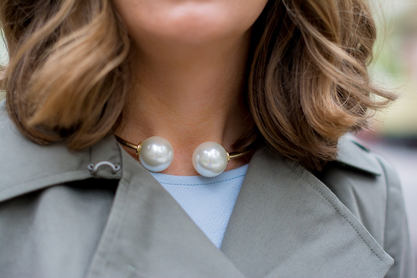 forever 21 double pearl choker