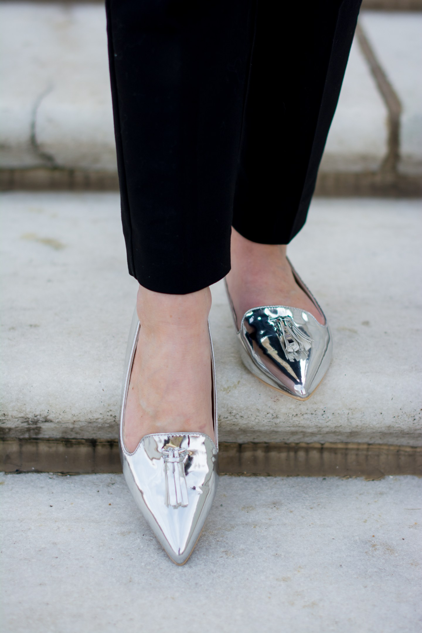 express-ankle-pants-asos-silver-tassel-loafers