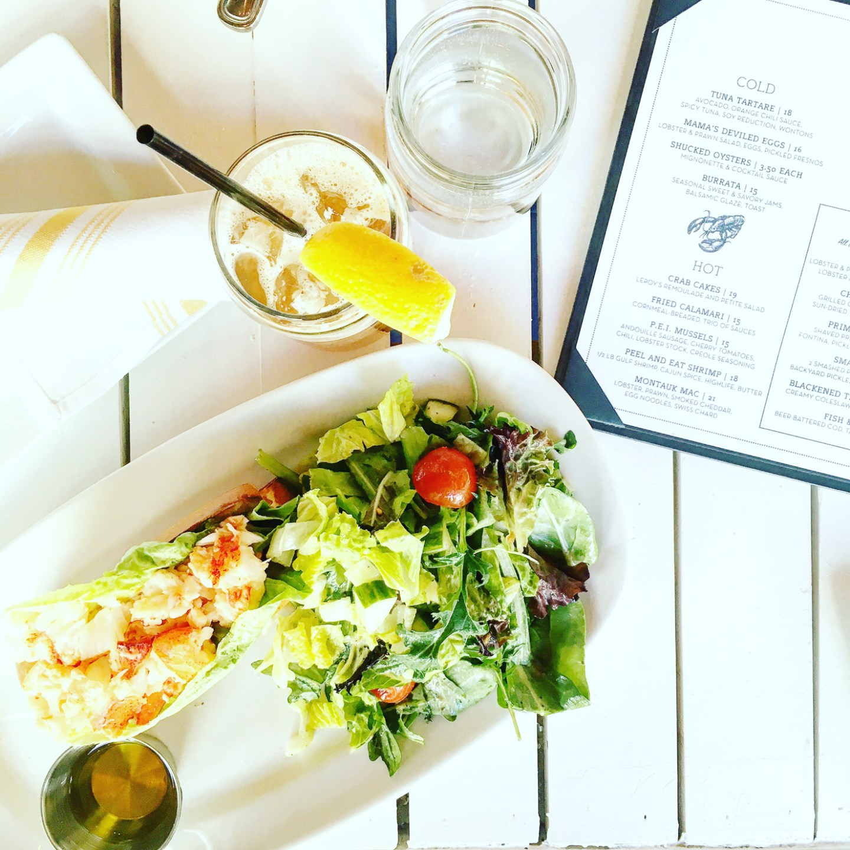 lobster roll, hampton social, blogger lunch