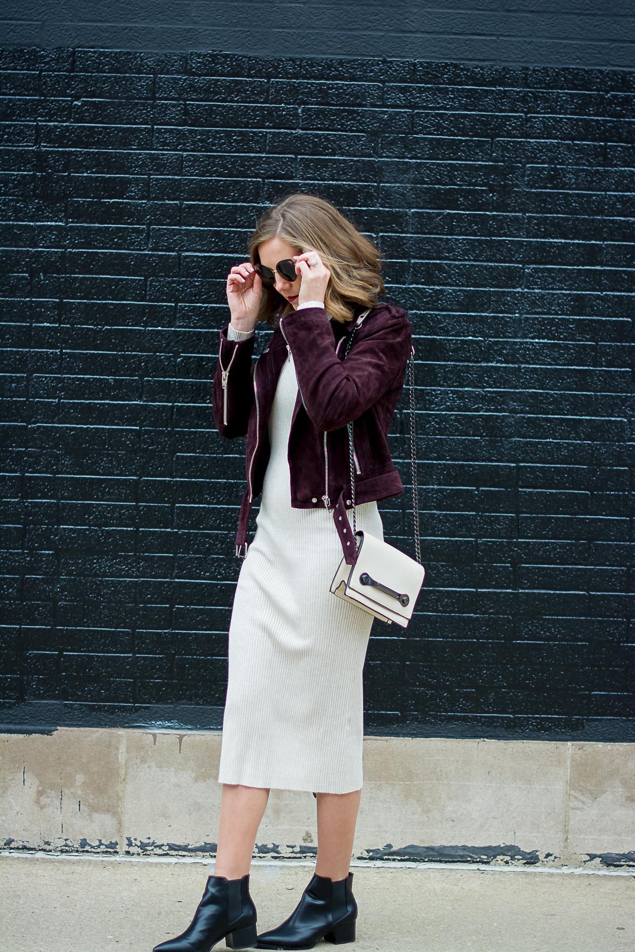 zara-rib-knit-bodycon-midi-dress-blank-nyc-burgundy-suede-moto-jacket-forever-21-cream-crossbody-black-pointed-justfab-ankle-boots
