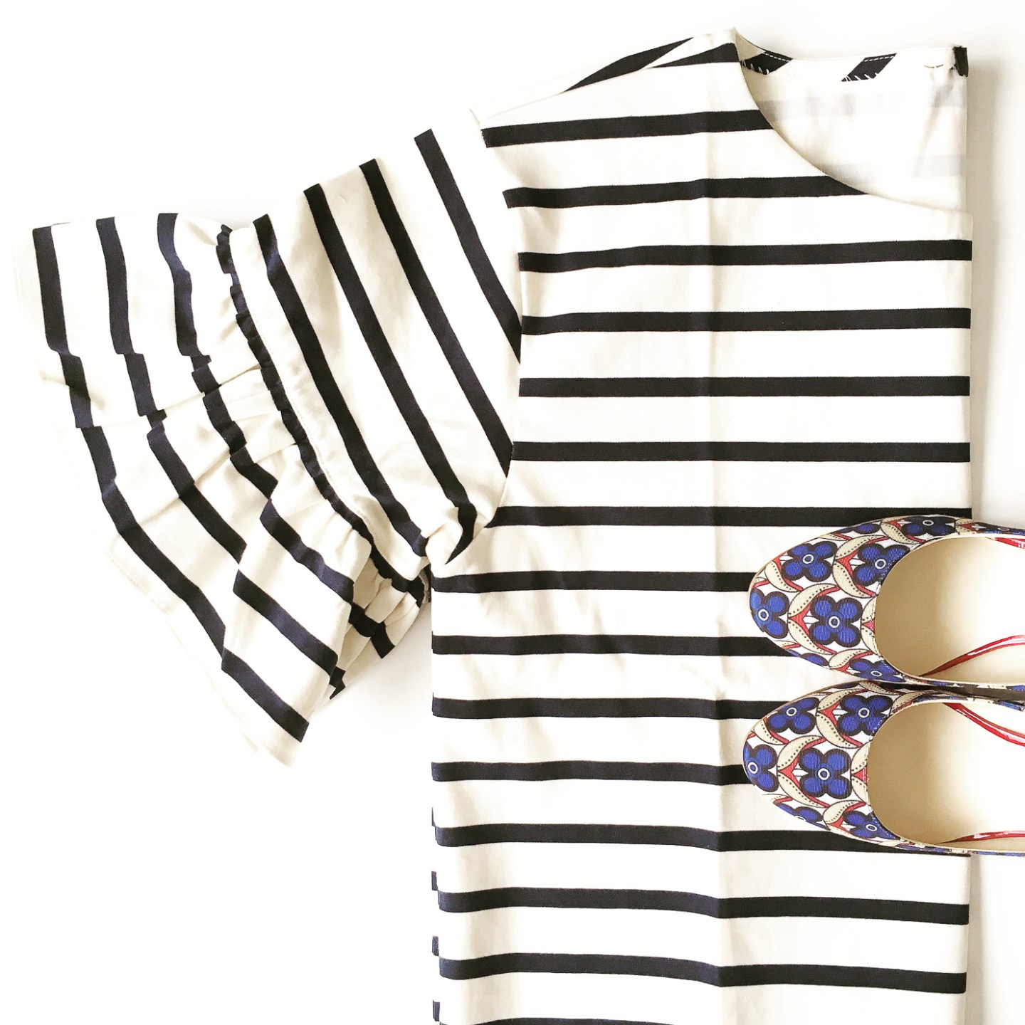 jcrew-striped-ruffle-sleeve-top-printed-nine-round-toe-pumps