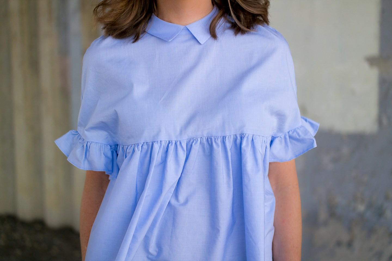 zara-blue--ruffle-sleeve-ties-back-top