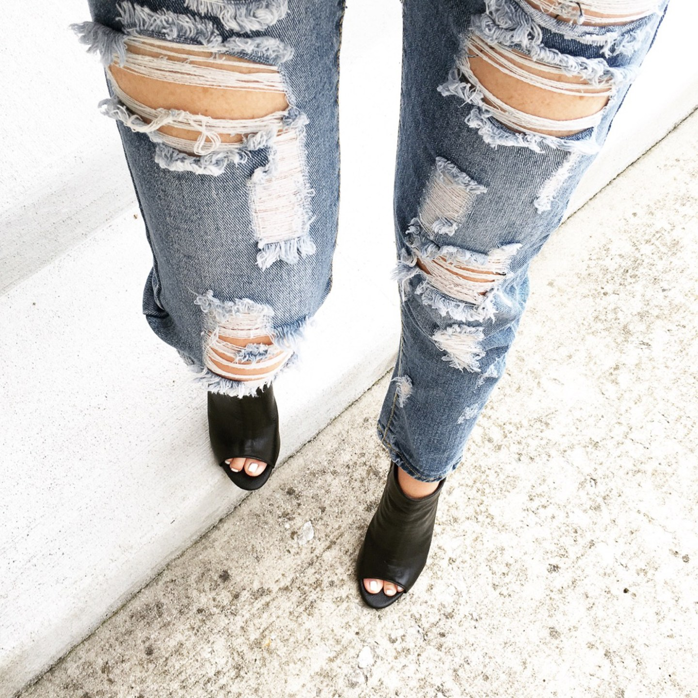 ripped-denim-joie-peep-toe-booties-wishes-and-reality-instagram