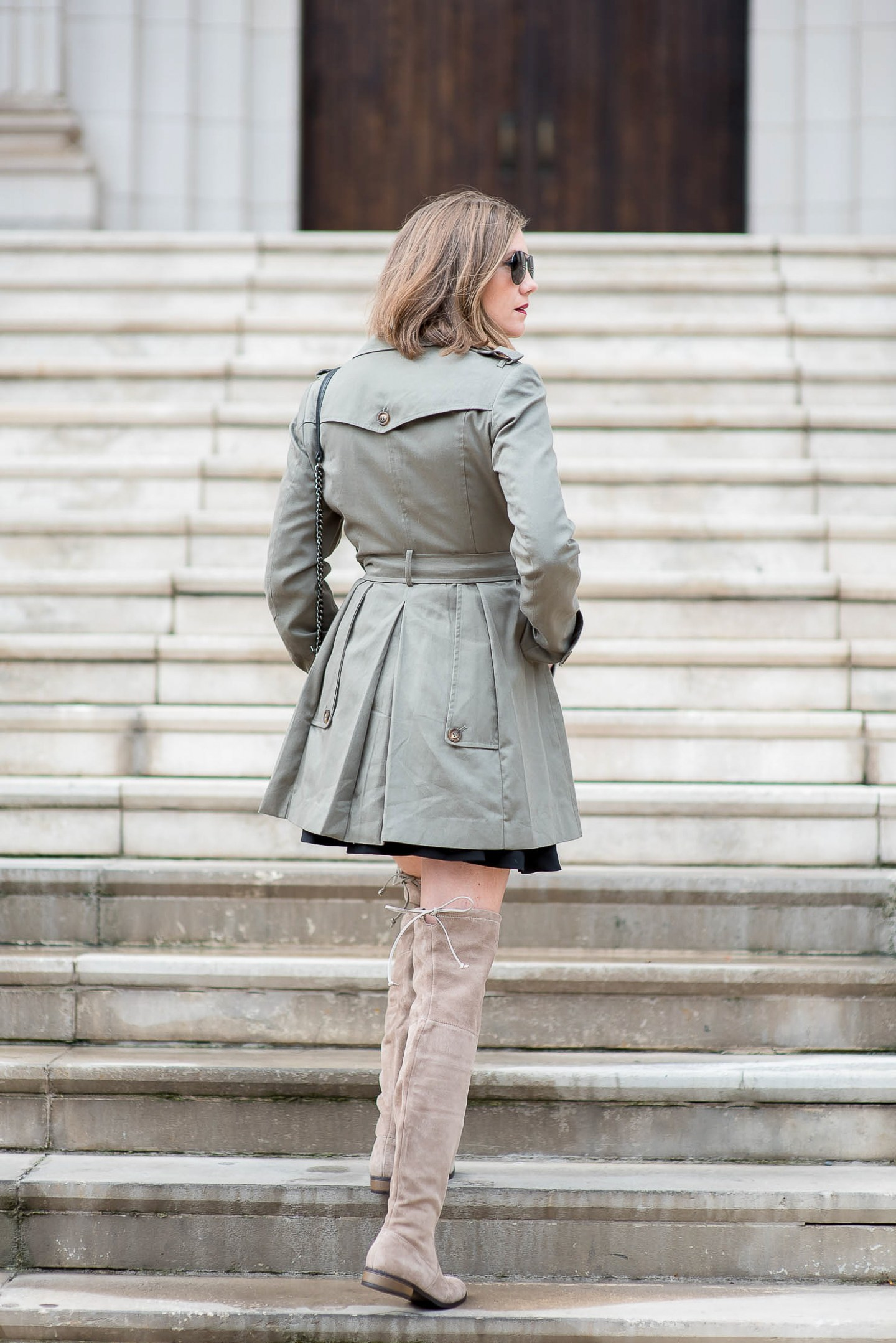 A Year in Review: My Favorite Outfits of 2016, styling a trench for fall with over the knee boots