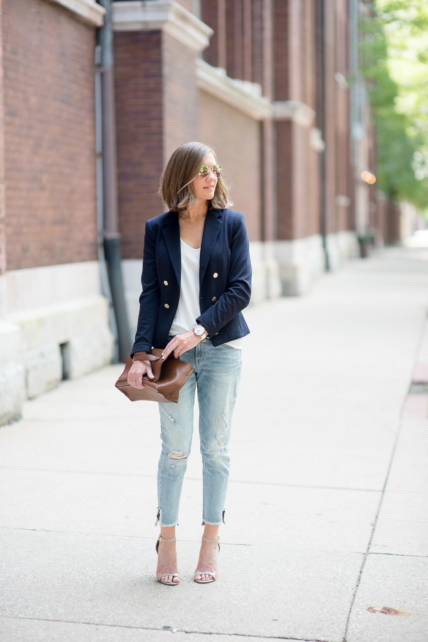 A Year in Review: My Favorite Outfits of 2016, casual fall jeans and blazer outfit