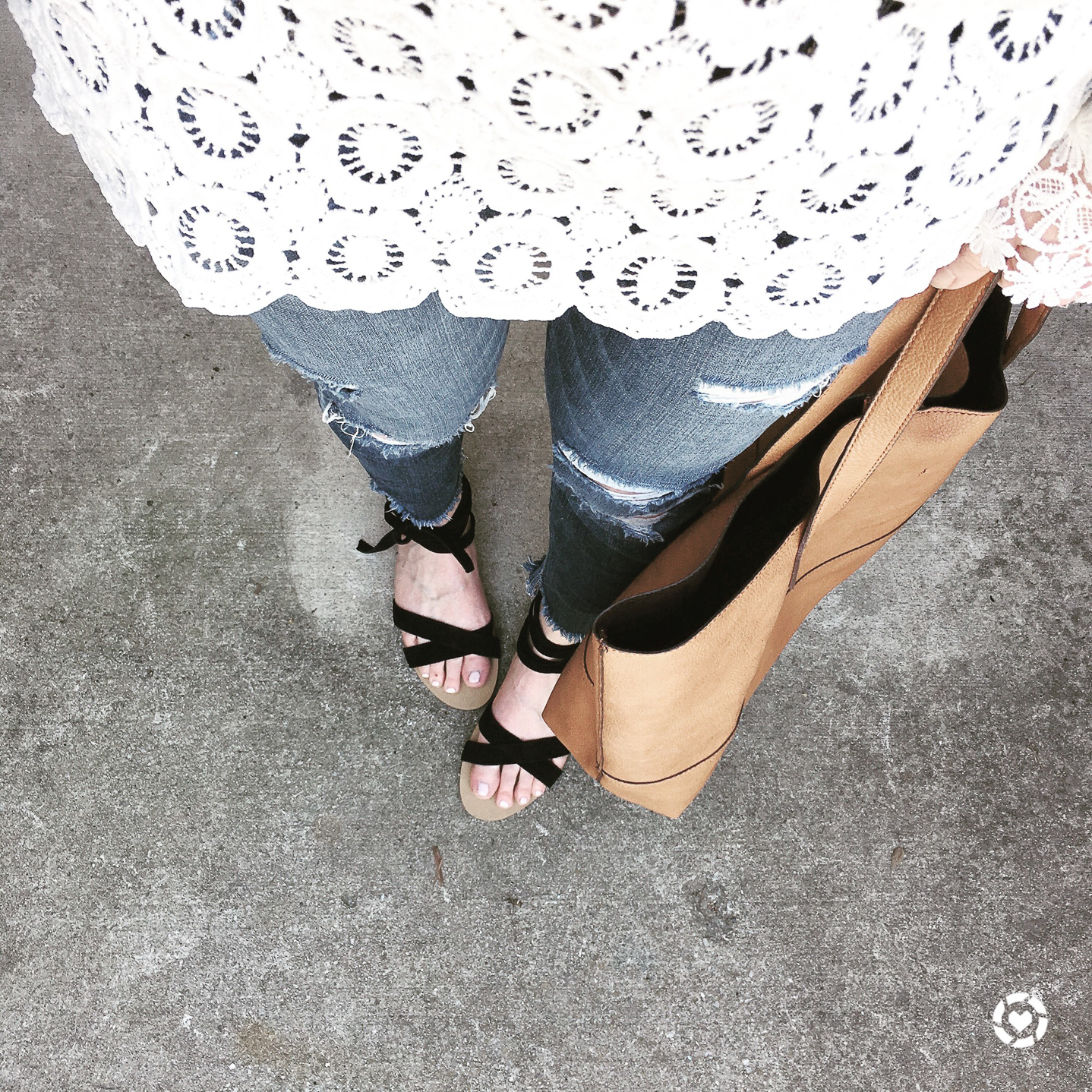 Instagram, life lately, from where I stand, lace top distressed jeans