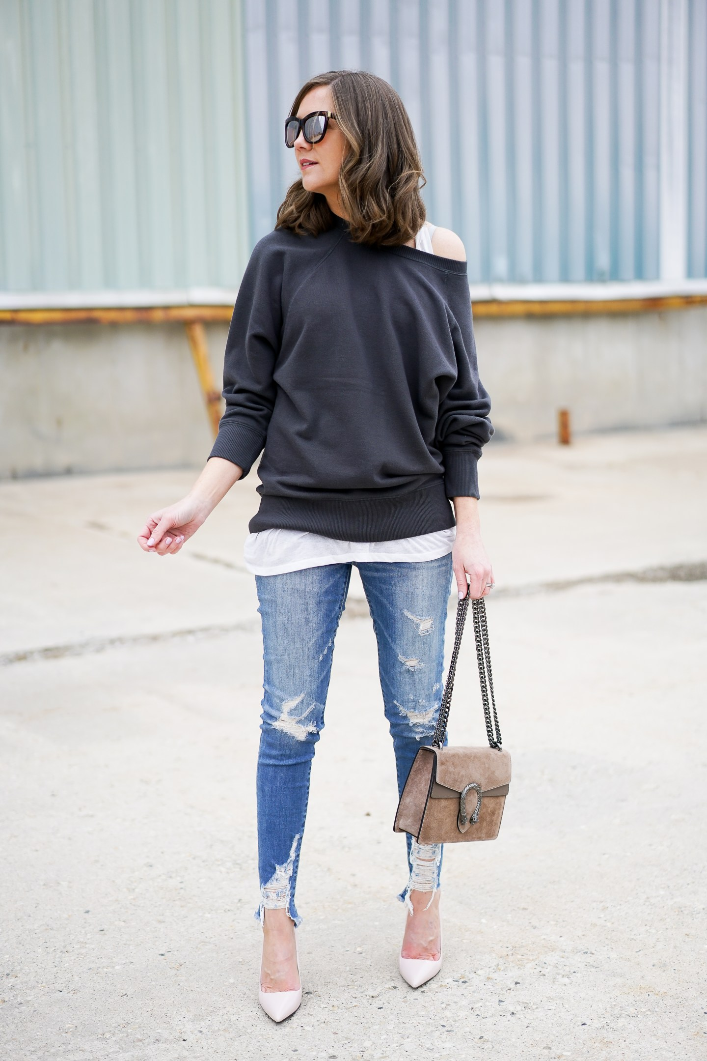 how to dress up a sweatshirt, comfy casual meets glam, the best sweatshirt, spring 2018 fashion trends