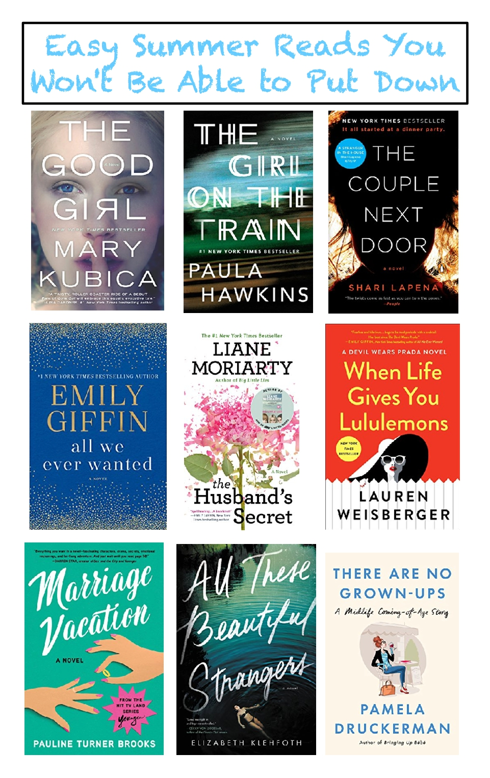 what to read this summer, easy summer reads you won't be able to put down, chick lit, easy summer books, what to read this summer beach books, books to pack on vacation