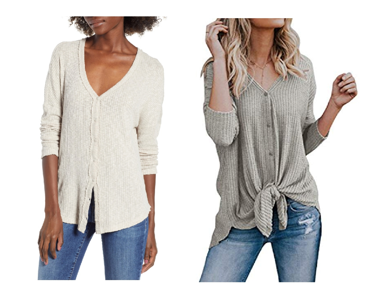 nordstrom anniversary sale dupes, button thermal top