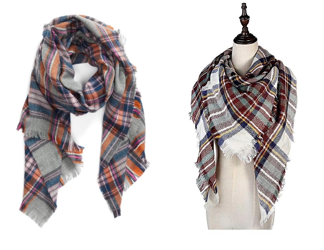 nordstrom anniversary sale dupes, plaid blanket scarf