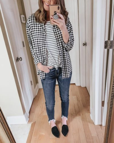 Casual spring fashion finds at Target, Target fashion, Spring Fashion, gingham button down