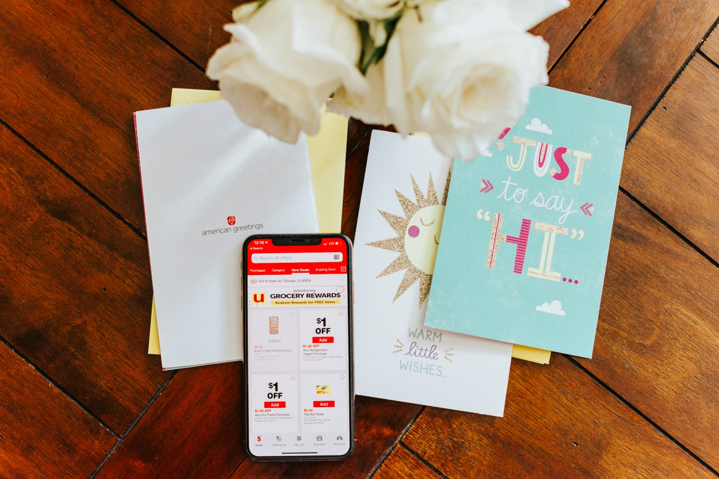 American Greetings at Albertsons Jewel Osco, staying in touch with long distance friends,
