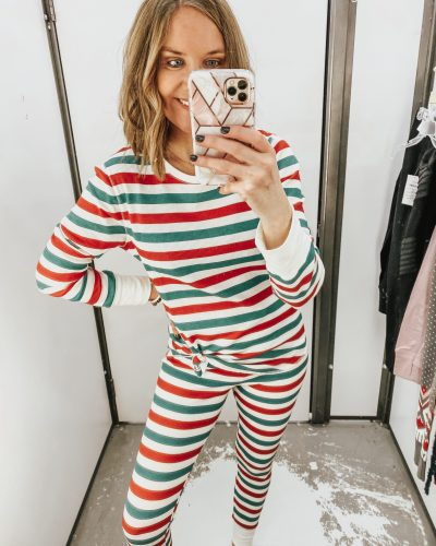 Old Navy, holiday outfits, mix and match pajamas, holiday gift ideas
