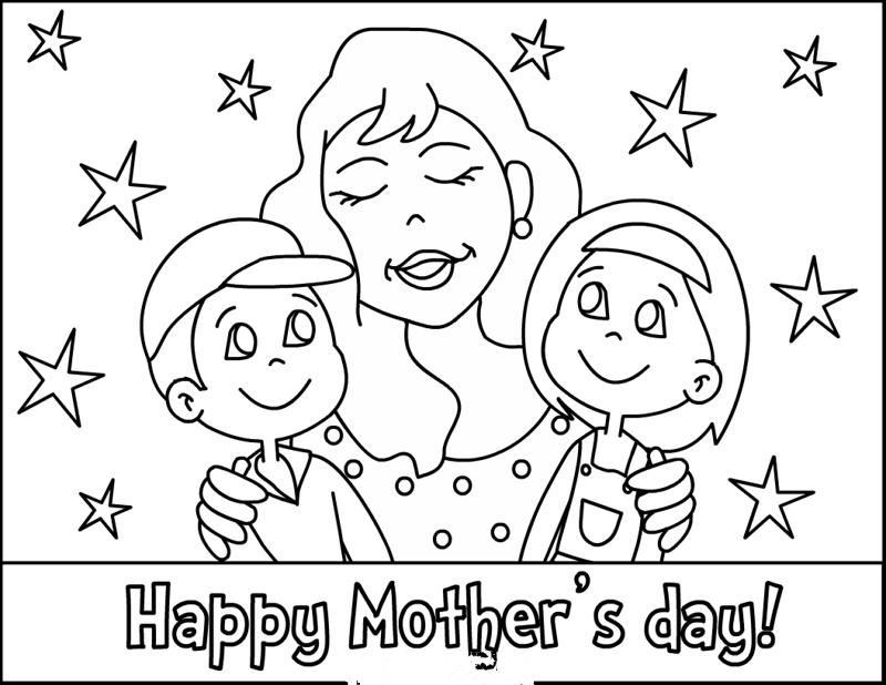 Printable Mothers Day Coloring Pages/ Cards