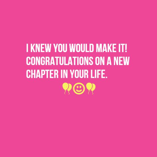 35 congratulations on new