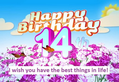 Happy 14th Birthday Quotes WishesGreeting