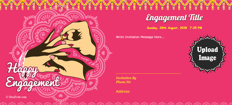 engagement invitation message and