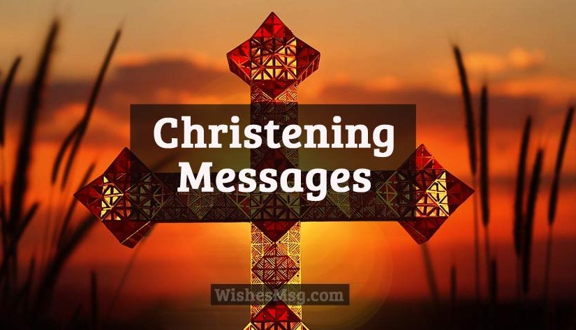 christening message wishes for