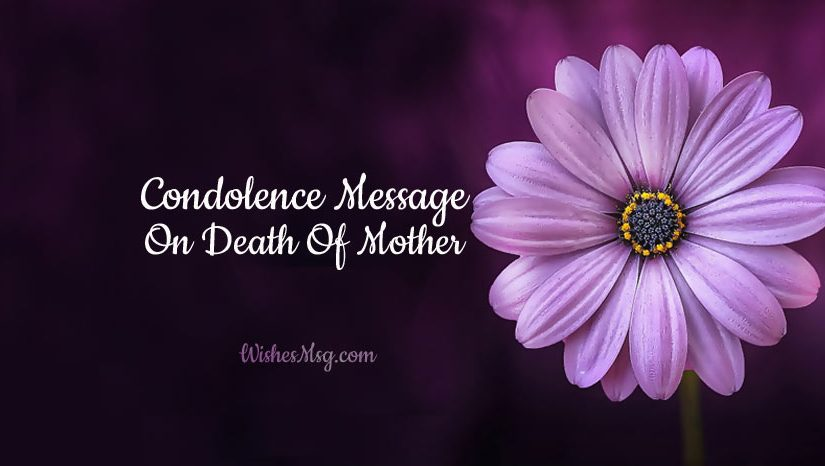 condolence messages on death
