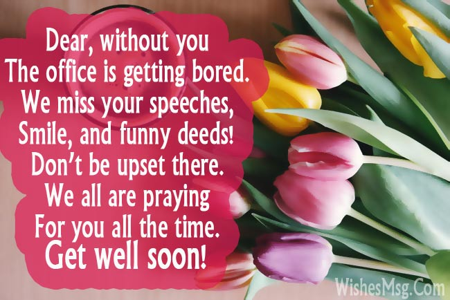 Get Well Soon Messages For Boss Colleague Or Coworker WishesMsg
