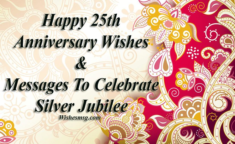 25th wedding anniversary wishes