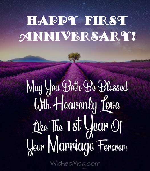 1st anniversary wishes first
