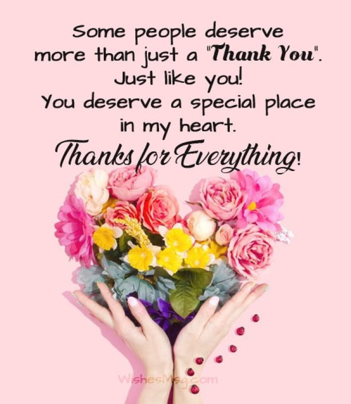 200+ Thank You Messages, Wishes and Quotes - WishesMsg