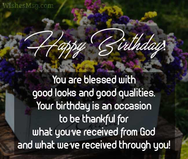 60 religious birthday wishes