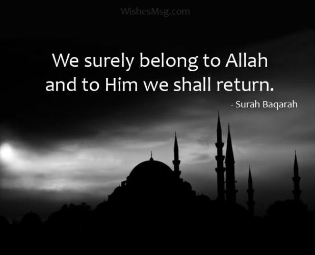 Heartfelt Islamic Condolence Message