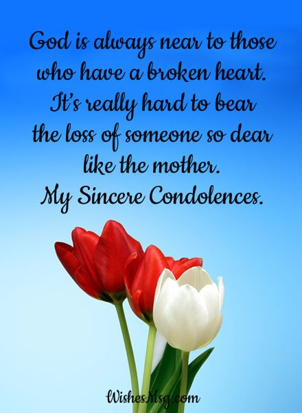 Condolence Messages on Death of Mother - Sympathy Quotes ...