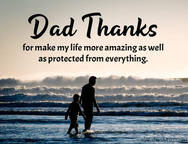 Thank You Message for Dad from Son