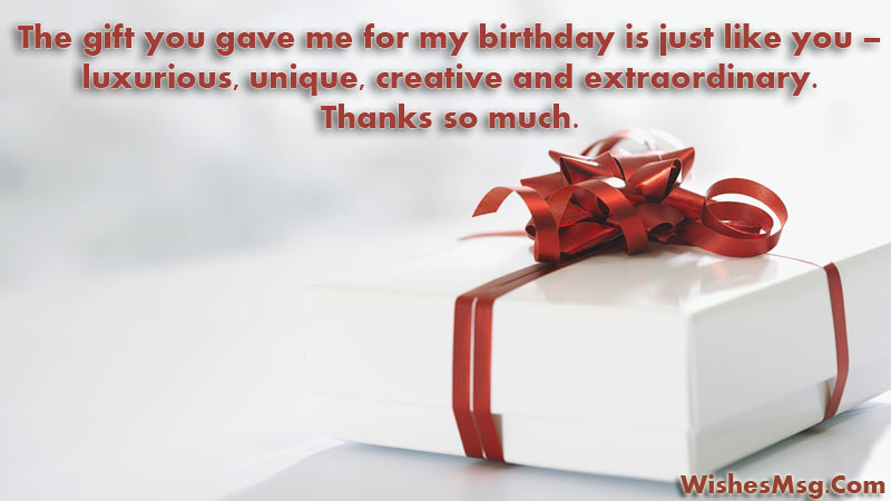 Thank You Messages For Gift Words Of Appreciation