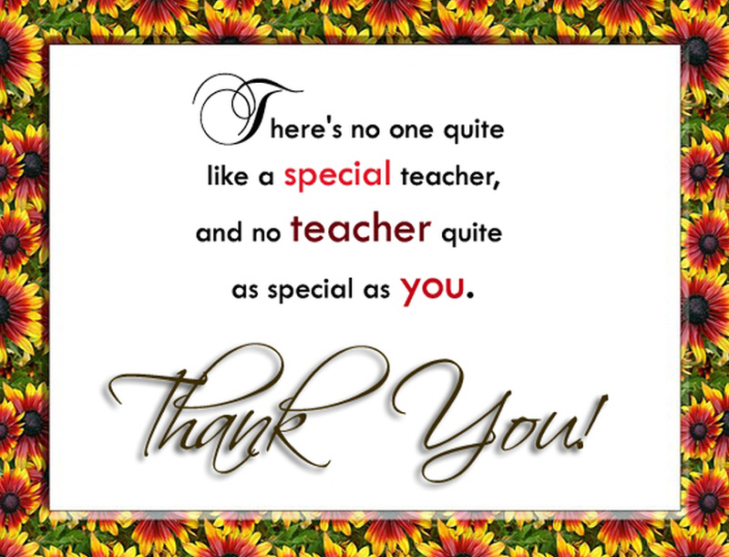 Thank You Teacher Wishes Messages From Students And