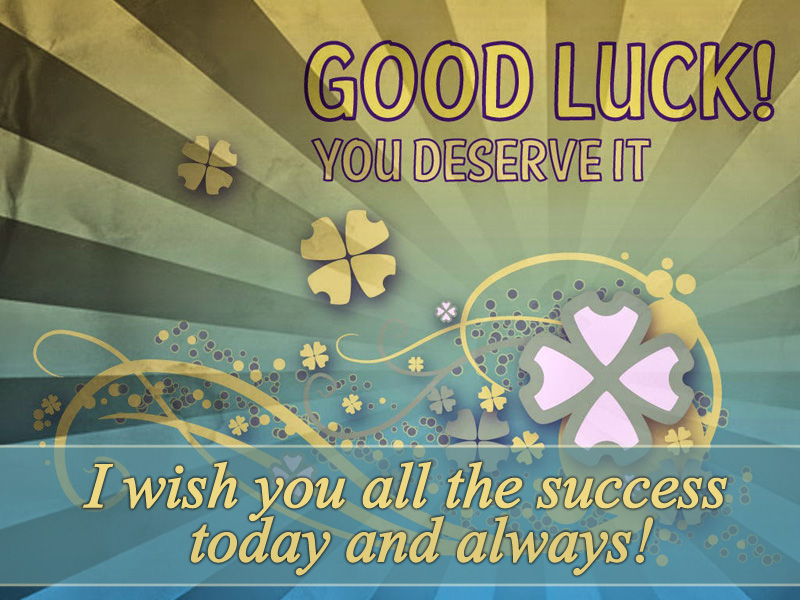 good luck messages wishes