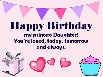 70 Happy Birthday Wishes For Daughter - WishesMsg