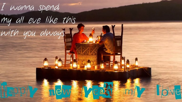 happy new year romantic messages for girlfriend