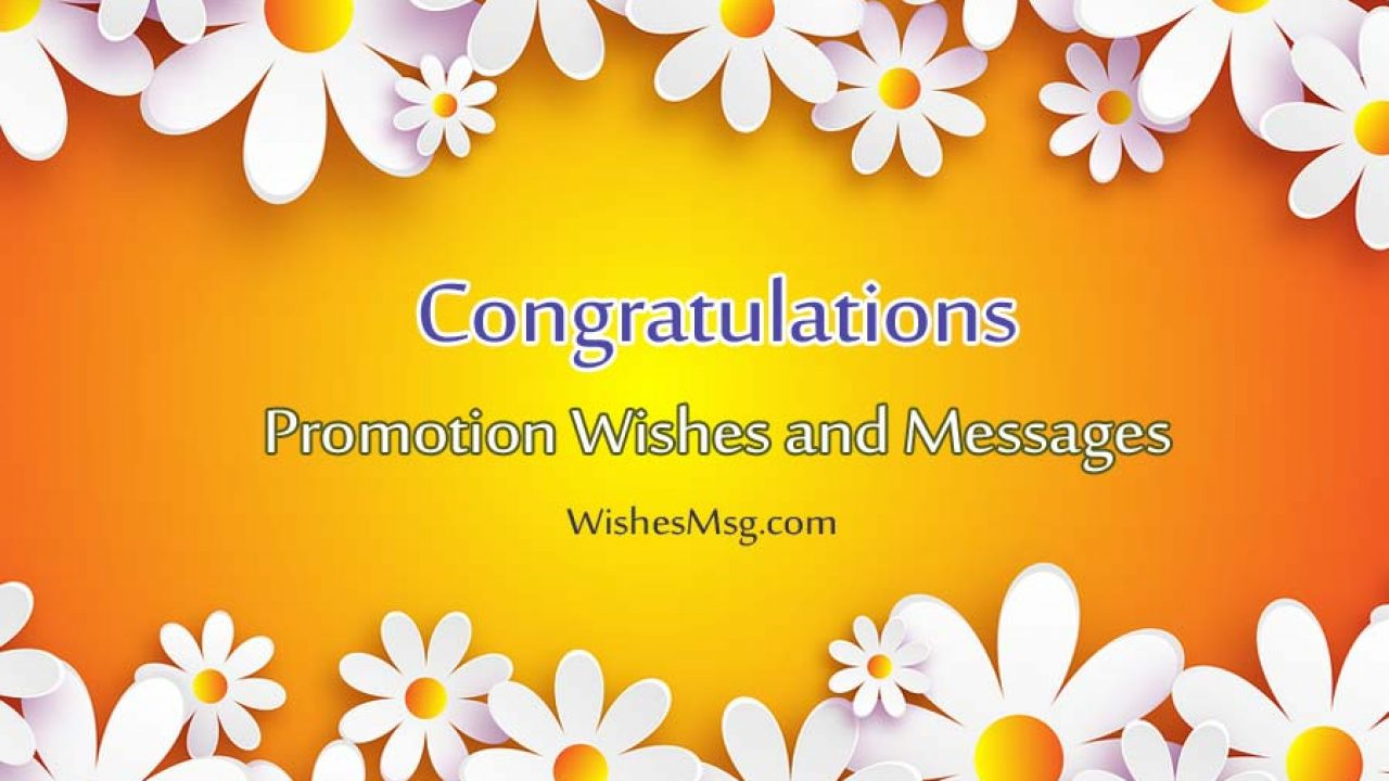 job promotion wishes congratulation