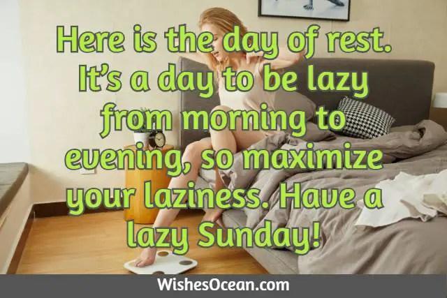 Lazy Sunday Morning Wishes