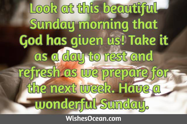 Sunday Morning Wishes for Friends