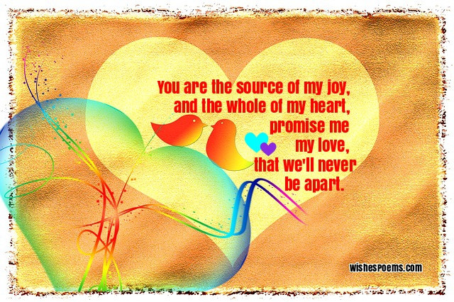 short romantic love poems for him from the heart