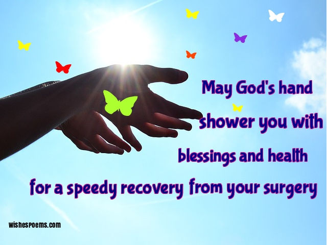 Good wishes for operation