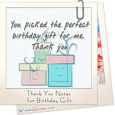 Thank You Notes For Birthday Gift By WishesQuotes